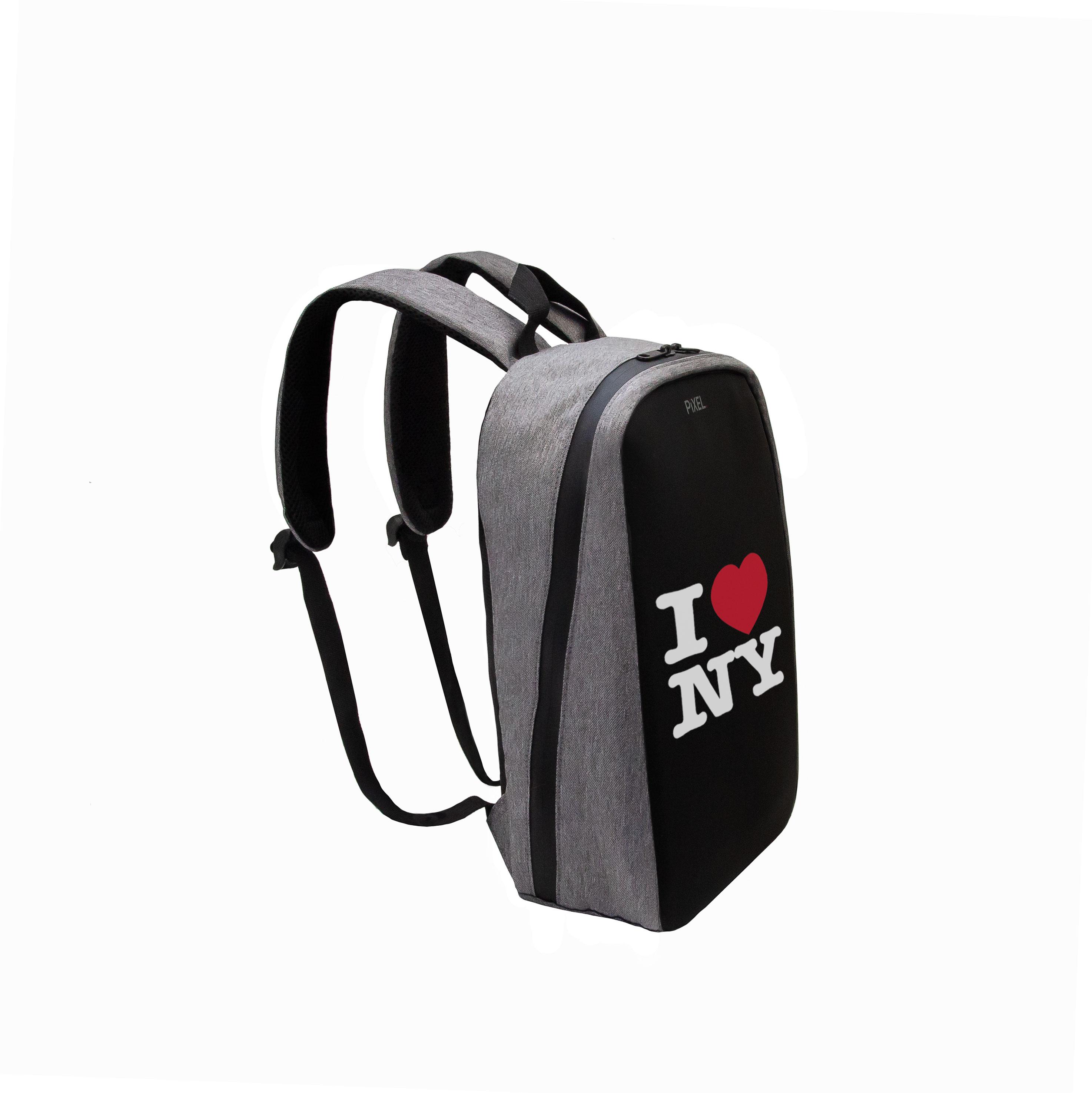 Рюкзак с LED-дисплеем PIXEL PLUS - GRAFIT серый